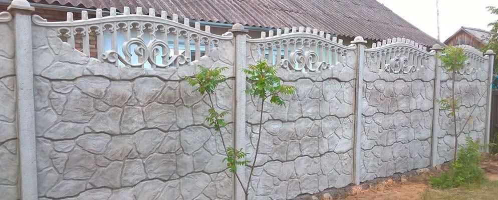 изготовление бетонных заборов